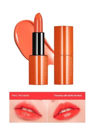 Missha Yoğun Pigmentli Besleyici Nemli Bitişli Ruj  Dare Rouge Sheer Sleek (03 Red Marmalade) Renksiz